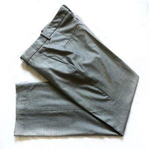 Zara gray straight leg career pants
